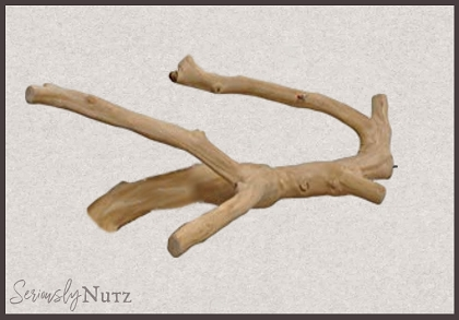 Large Java Wood Multi Branch Perch